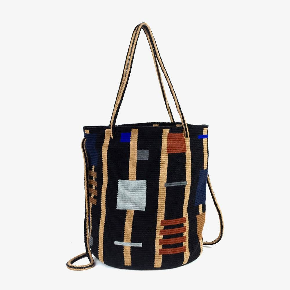 Tiara Bag L - GALERAS - Black & Brown