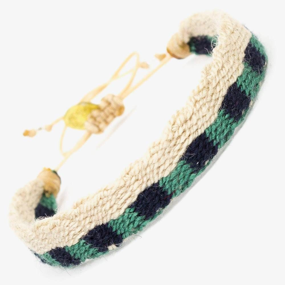 CAPTAIN Bracelet - Green & Beige