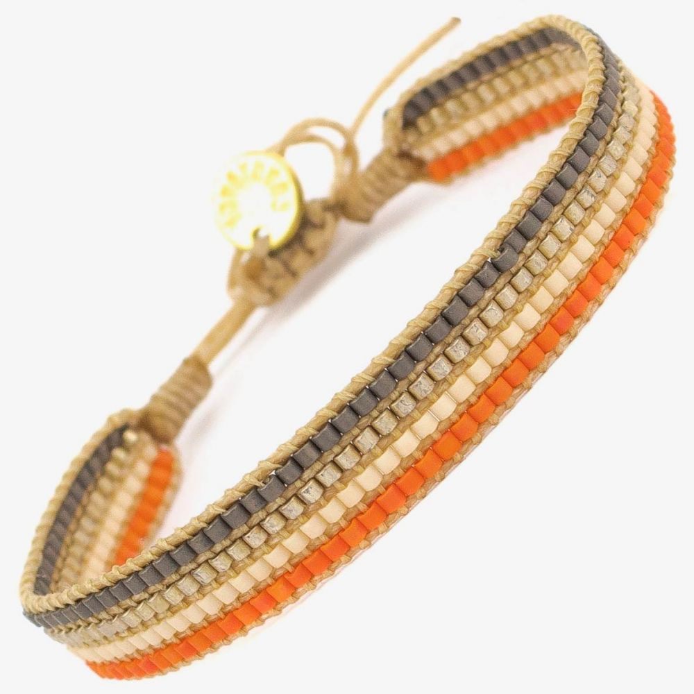 MultiStrass - Orange & Beige