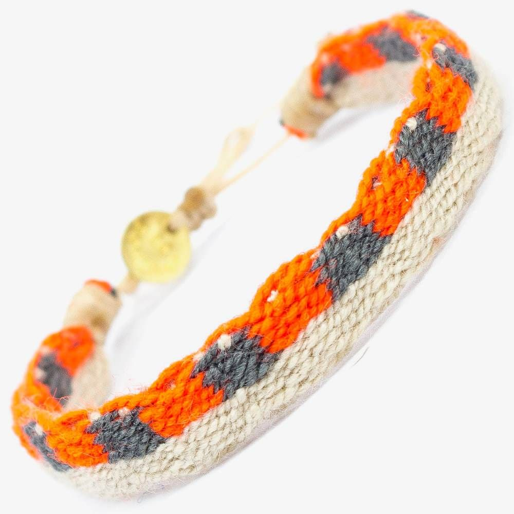 CAPTAIN Bracelet - Beige & Orange