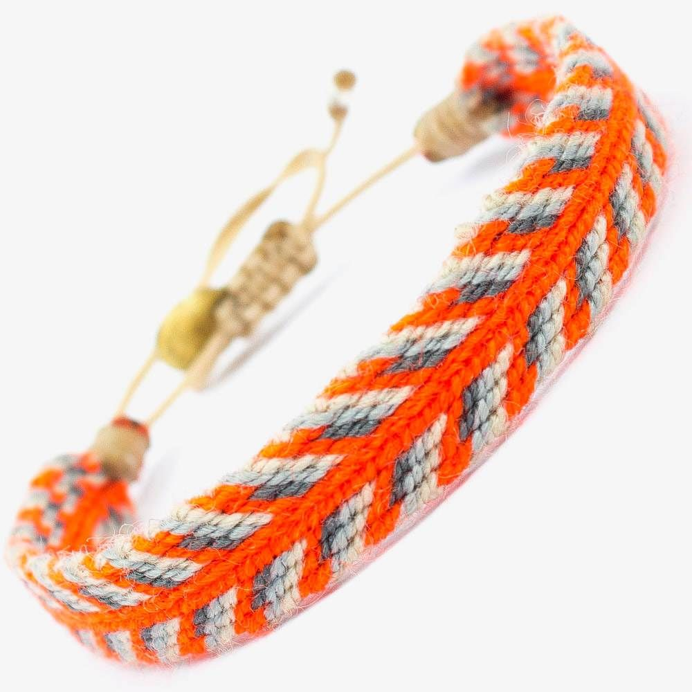 CAPTAIN Bracelet - Gray & Orange