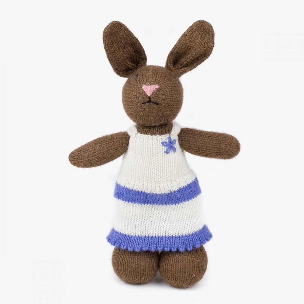 Rabbit - BROWN with WHITE DRESS