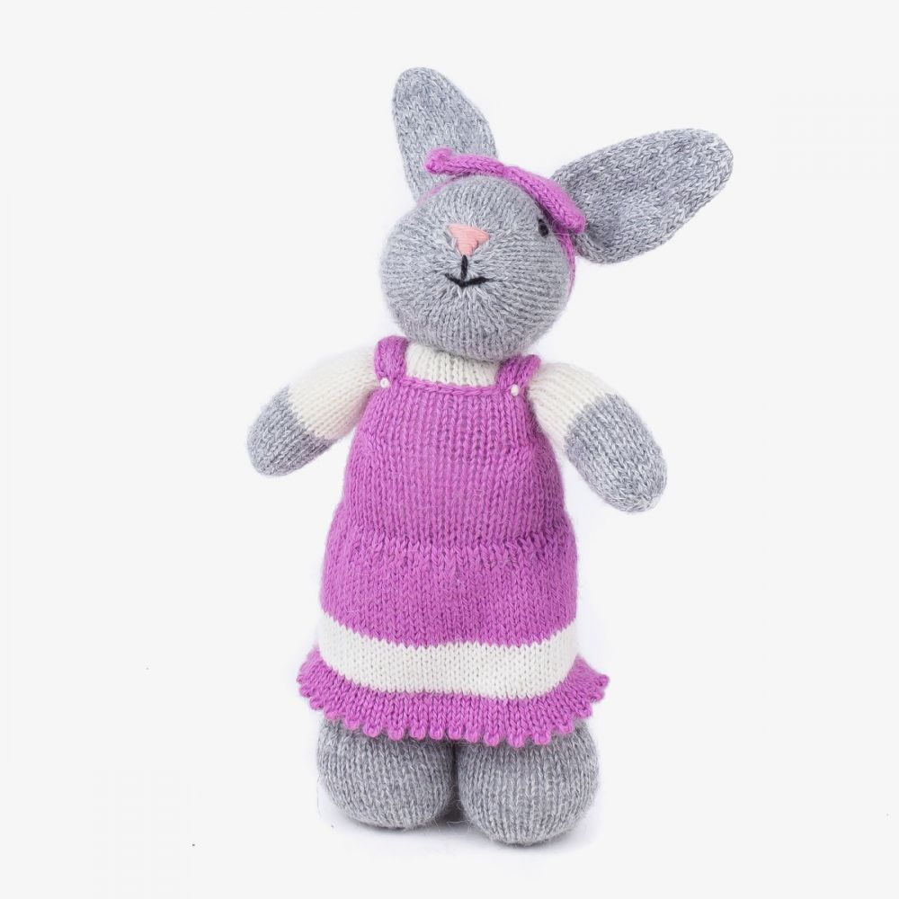 Rabbit - GREY with PURPLE DRESS