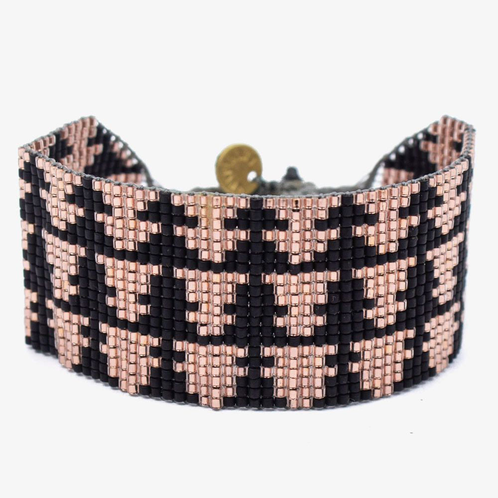 Strass CHARTRES - Black & Rose gold