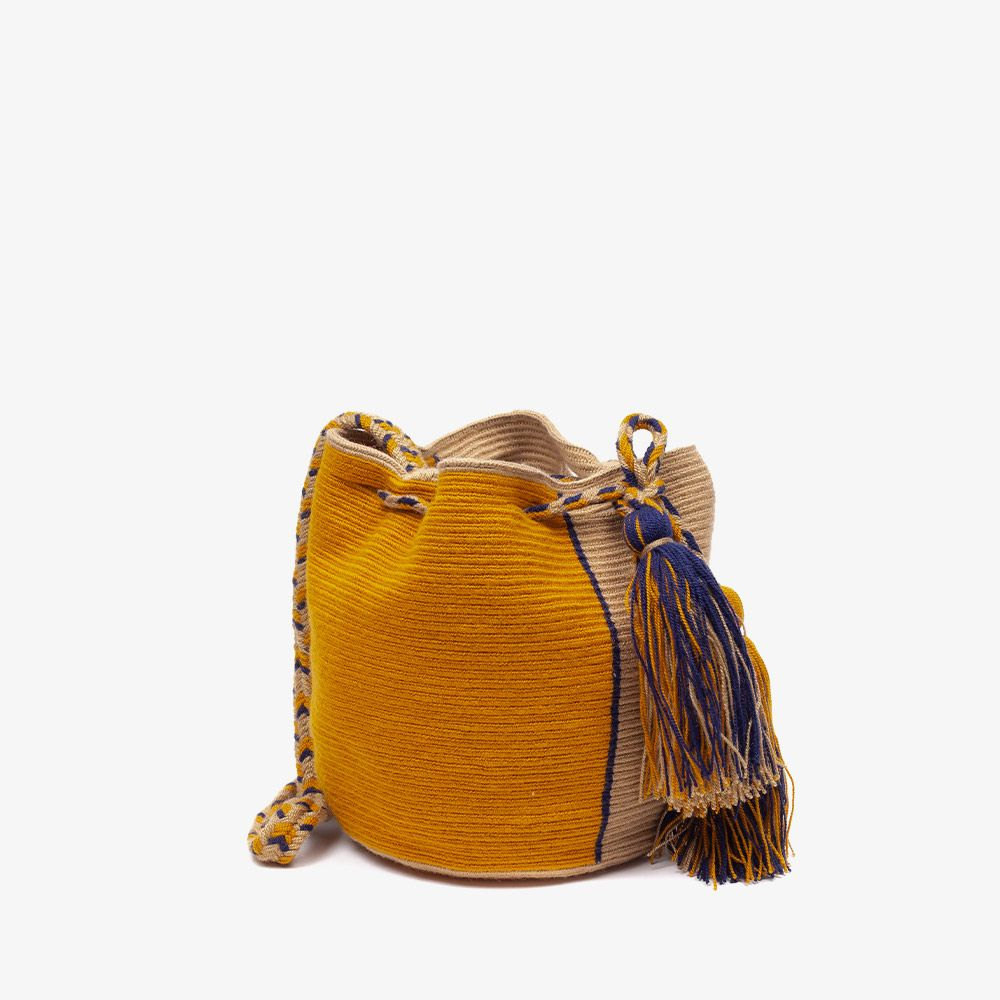 Crossbody M - STINGRAY - Mustard & Toast