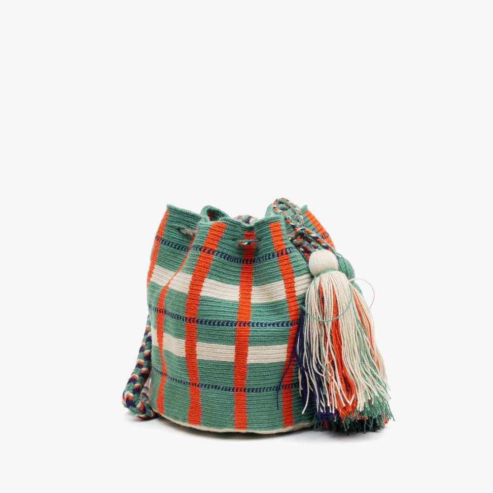 Crossbody M - AROWANA - Jade Green & Orange